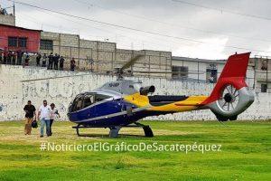 Helicóptero que usó Ministro de Ambiente