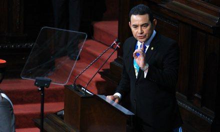 3er. año de Gobierno: Jimmy Morales resaltará  sus esfuerzos en la lucha contra la corrupción